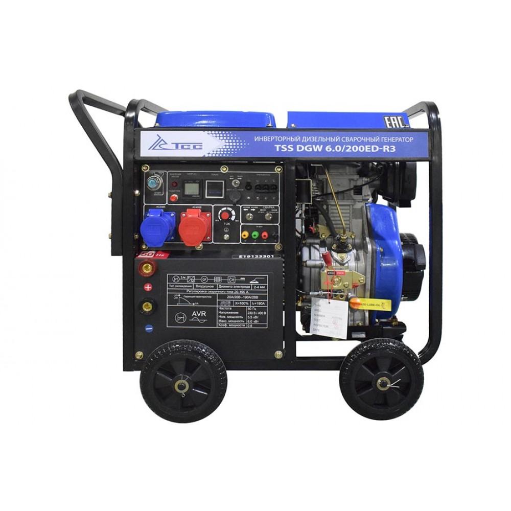 Дизельный сварочный аппарат ТСС DGW 6.0/200ED-R3