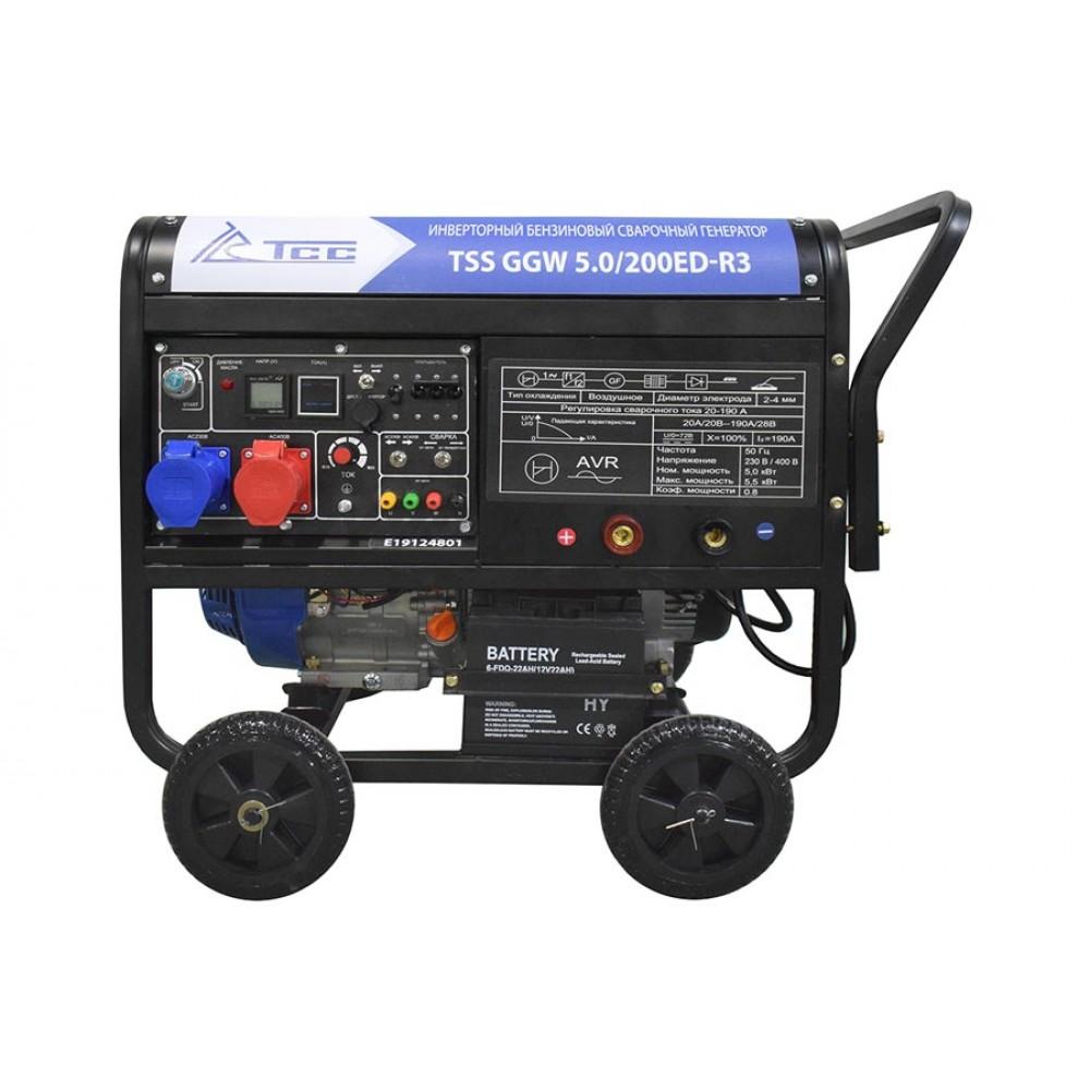 Бензиновый сварочный генератор TSS GGW 5.0/200ED-R3