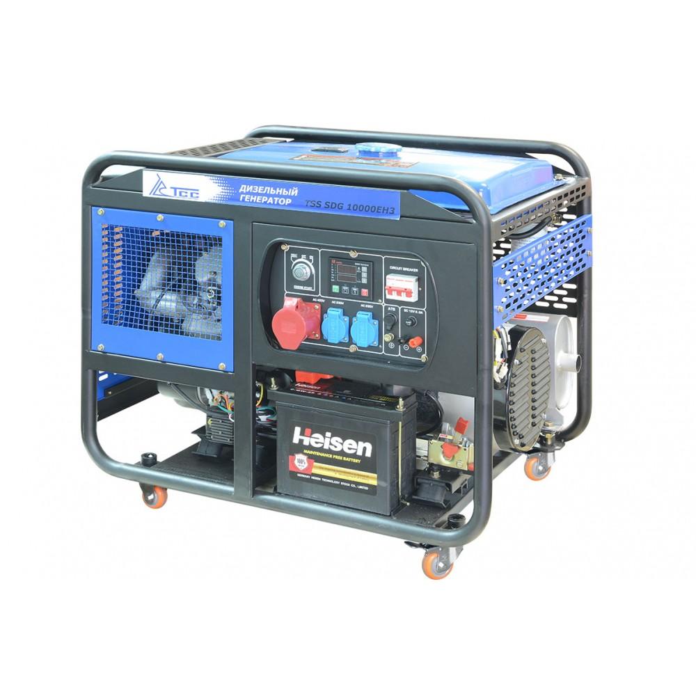 Дизельный генератор TSS SDG 10000-EH3A С АВР ( с блоком автоматики)