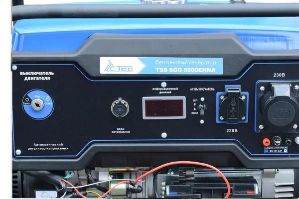 Как запускается бензиновый генератор TSS SGG 5000?
