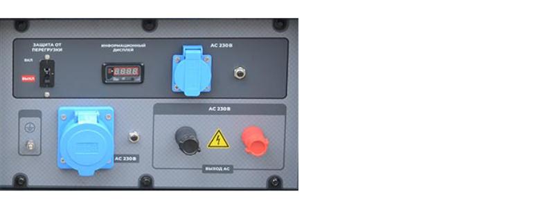 Бензогенератор TSS SGG 12000EH панель