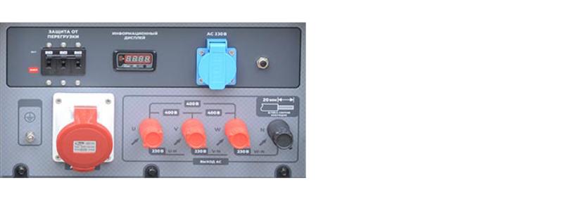 Бензогенератор TSS SGG 16000EH3 панель