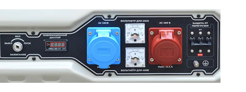 Бензогенератор TSS SGG 9000E3LU панель